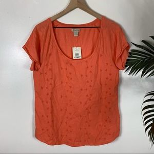 NEW Lucky Brand Eyelet Top Womens Large